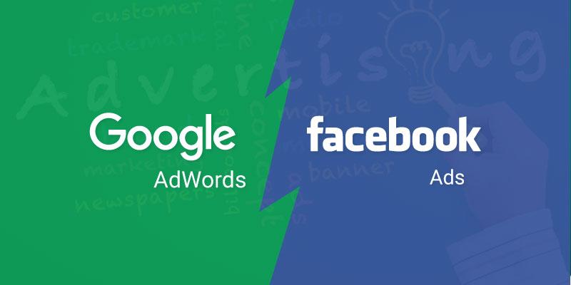 Quang cao facebook vs quang cao google